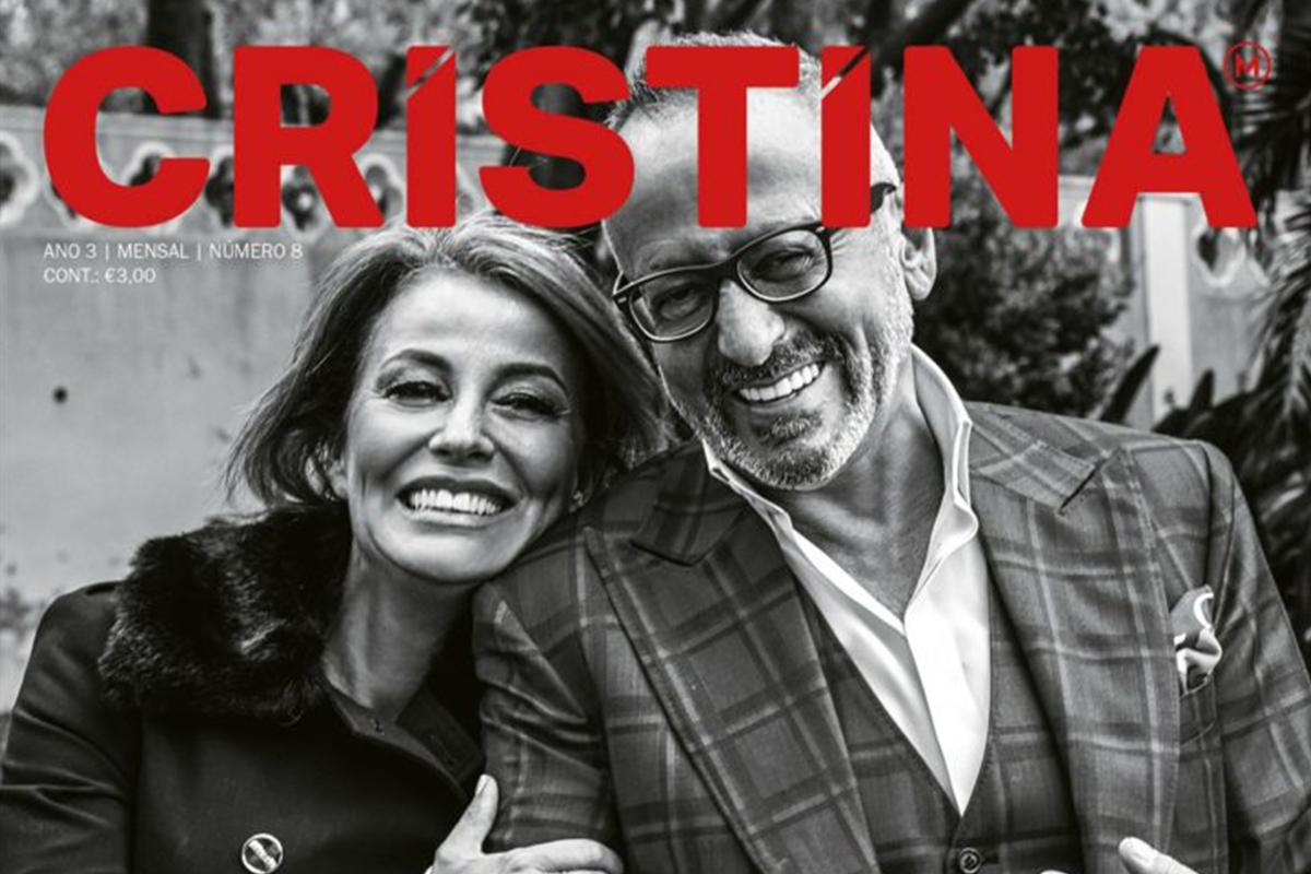 ALEXANDRA LENCASTRE capa da revista Cristina